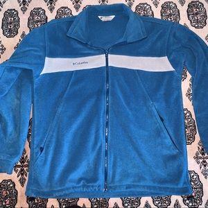 columbia blue fleece jacket